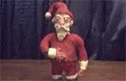 Wrapping Santa (clay)