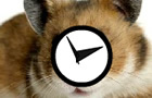 Headbanging Hamster Clock