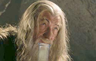 Gandalf hitting the bong.