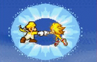 Mario vs Sonic (Sprite)