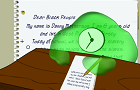 Blob Clock's Letter