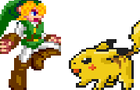 Link VS Pikachu by GuitarKirby
