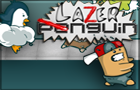 Lazer Penguin by yellowbouncyball