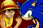 Sonic Vs Luffy Part 1 by Kimathi