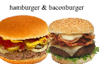 Hamburger & Baconburger by HyundaiClock