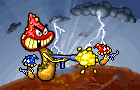 Battle of Mushrooms by WeslomPo