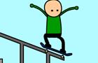 Stick Skateboarder Line