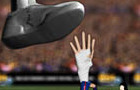 Messi's hand, on the run