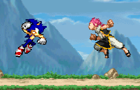 Sonic vs Natsu by SquirrelKidd