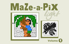 Maze-a-Pix Light Vol 1 by Conceptis