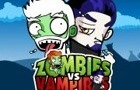 Zombies vs Vampires by cluttermedia