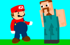 Mario Crosses Minecraft by JihadGrandad
