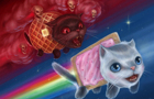 Nyan cat and bloomy