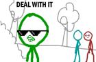 RegularShow + dick figure