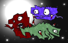 Evil Space Creatures 2 by scuddle