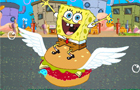 SpongeBob is eating hambu