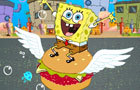 Spongebob Eating Hamburge