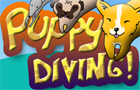 Puppy Diving by goblinclub