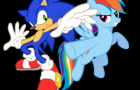 Sonic VS Rainbow Dash SC by sonik1