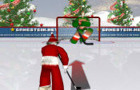Santa hockey shootout