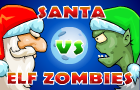 Santa vs Elf Zombies by Nicee