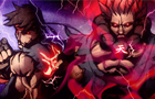 Ryu vs Akuma Round 3  by MysticSkillz