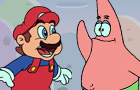 Mario Meets Patrick Star