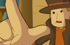 Layton Raises His Hand by Kiigen
