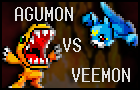 Agumon versus Veemon by Chdonga