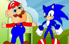 Evil Sonic Vs Happy Mario by Vagahora