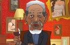 Morgan Freeman Hit It
