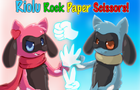 Riolu Rock Paper Scissors by chibixi