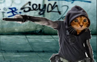 Gangsta Cat by adjua