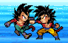 Goku vs Vegeta (GT) by goldenninetails