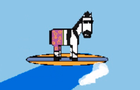 The Surfer Zebra