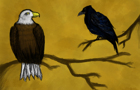 Story about eagle & crow