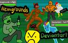 Newgrounds vs Deviantart by IceBurger