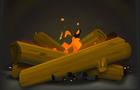 Happy Holidays Animated Yule Log