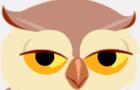 An owl tells a joke