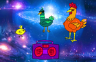 Chicken Space Party
