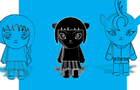 blue astro cat- azul astro minino