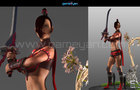 3D Warrior Game Character Modeling and Rigging Animation for Lady