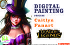 Caitlyn fanart speed painting