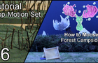 Simple tutorial to make a stop-motion forest campsite set
