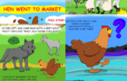 "Children's Book ""Hen Went to Market"""