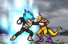 SSGSS Vegeta VS Golden Frieza