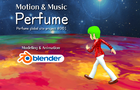 Blender 3D animation Perfume global site project #001 motion capture data & music data