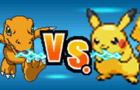 FIGHTERS: Pikachu vs Agumon