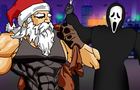 Ghostface challenges Santa Claus