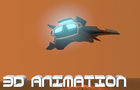 Spaceship flight 3D Animation